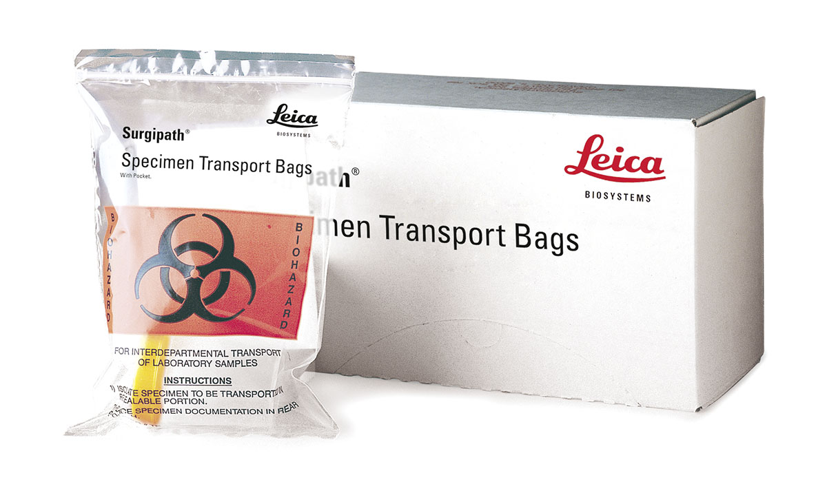 Specimen Transport Bags with Pocket 製品画像 Front View S