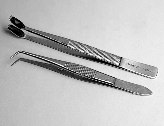 Coverglass Forceps product photo Front View S