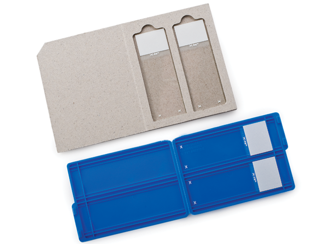 Two Slide Mailer Plastic and Chipboard product photo Front View L